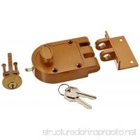 NU-SET 2120-3 Jimmy Proof Style Inter Locking Deadbolt Lock with Single Cylinder Bronze - B000I6F1WS