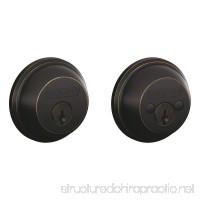 Schlage B362NV716 Double-Cylinder Deadbolt Aged Bronze - B000GIO0HK