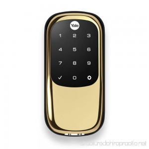 Yale Security YRD246NR605 Yale Assure LOCK Key Free Touchscreen Deadbolt In Polished Brass (YRD246-NR-605) - B06XWZPH92