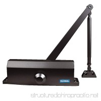 Global Door Controls Commercial Door Closer in Duronotic with Backcheck - Size 4 - B00164M4HG