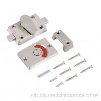 In Use Lock Indicator Stainless Steel Privacy Bolt Door Lock Indicator with Vacant Engaged Indicating+Screws Fittings For Bathroom Toilet Use - B079L5V1J5