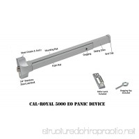"Cal-Royal 36"" Push Bar Panic Exit Device  Aluminum - B00OM39LXI"