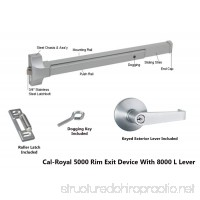 Cal-Royal COMBO5000EO36AL Push Bar Panic Exit Device Aluminum with Exterior Lever - B00LV4DQR8