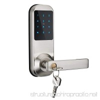 Electronic Keyless Code Door Lock Unlock with Code Mifare Card and Mechanical Key (M10-NB) - B07CQHG6S2