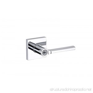 Kwikset 91560-023 Lisbon Square Keyed Entry Lever Featuring SmartKey In Polished Chrome - B0185ZKLJ6