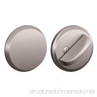 Schlage B81-626 Satin Chrome Door Bolt with Exterior Plate - B00E4WJFYM