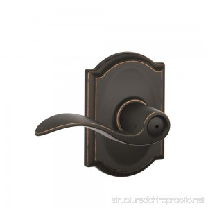 Schlage F40 ACC 716 CAM Camelot Collection Accent Privacy Lever Aged Bronze - B005DX6XM8