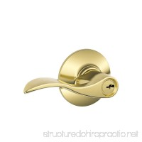 Schlage F51VACC505 Accent Entry Lever Bright Brass - B00099H03M