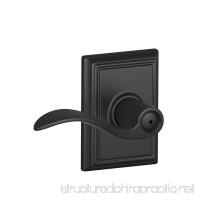 Schlage Lock Company F40ACC622ADD Addison Collection Accent Privacy Lever  Matte Black - B005DXLV4S