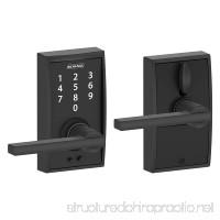 Schlage Touch Century Lock with Latitude Lever (Matte Black) FE695 CEN 622 LAT - B00N12EZ2I