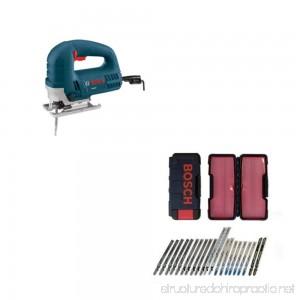 Bosch JS260 60A Top Handle JigSaw & Bosch TC21HC 21-Pc T-Shank Jig Saw Blade Set - B00C3INI9C