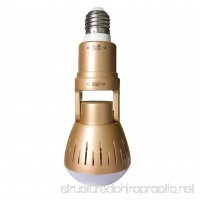 360-Degree Monitoring Bulb Lamp Wireless 1080P Panoramic AP WiFi Camera(Color:Gold) - B07G491V3T