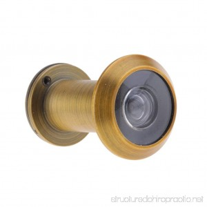 Baosity 200-Degree Door Peephole Anti-theft with Cover for 16mm Metal Brass - B07FTJTP3C