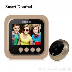 Danmini Digital Peephole Viewer Video doorbell with monitor 160 degree PIR Peephole Viewer Wifi Camera 2.0megapixel Infrared Night VisionAnti-theft Wireless WiFi Doorbell - B07CJ15MKX