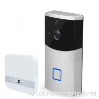 MIAO@LONG Video Doorbell Wireless Real-Time Video And Two-Way Audio With Indoor Receiver And 8G Memory Storage (Silver) - B07F71X4YN