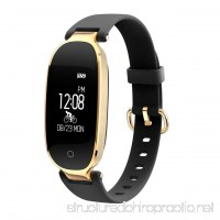 S3 Elegant Waterproof Bluetooth Smart Watch Heart Rate Monitor Fitness Tracker(Color:Gold Black) - B07G4DLDQ5