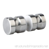 Alise L6000 Bathroom Round Back-to-Back Shower Glass Door Handle Pull Knob 1-1/5 Inch by 1-1/5 Inch Solid SUS304 Stainless Steel Brushed Nickel - B01N2MB6A2