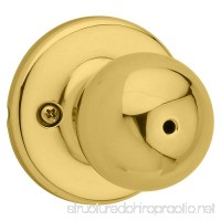 Kwikset 93001-913 Polo Privacy Bed/Bath Knob in Polished Brass - B078MH425Y
