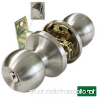 Probrico Ball Entrance Door Knobs Entry Door Locks Brushed Nickel - B016ZQ7C12