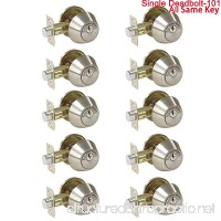 10 Pack Probrico Interior Bedroom Single Cylinder Deadbolt One Keyway Keyed Alike Same Key Safety Bolt Door Lock Lockset in Satin Nickel-Single Deadbolt-101 - B0773J6LMV
