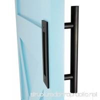 DIYHD 12 Stainless Steel Smooth Black Barn Pull Wood Door Two-Side Handles - B01MFAP5B6