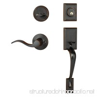 Dynasty Hardware RID-HER-100-12PR Ridgecrest Front Door Handleset  Aged Oil Rubbed Bronze  With Heritage Lever  Right Hand - B00I466ILC
