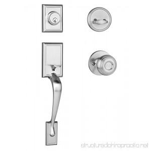 Dynasty Hardware RID-SIE-100-US15 Ridgecrest Front Door Handleset Satin Nickel with Sierra Knob - B00I4BCAGE