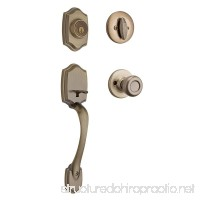 Kwikset 96870-098 Belleview Single Cylinder Handleset With Tylo Knob featuring SmartKey Security in Antique Brass - B004EPYSFK