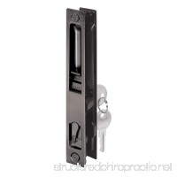 Prime-Line C 1033 Sliding Glass Door Handle Set  6-5/8 in  Diecast  Black  Hook Style  Flush Mount  Keyed  Non-Handed - B000I1VAZ0