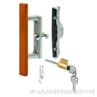 Prime-Line Products C 1064 Keyed Sliding Door Handle Set  Wood Pull  Aluminum Diecast  Viking - B00DS5GBZM