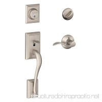Schlage Addison Single Cylinder Handleset and Accent Lever  Satin Nickel (F60 V ADD 619 ACC) - B0081Q6GVC