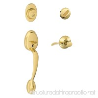 Schlage F60 V PLY 505 ACC Plymouth Handle Set with Accent Lever Interior Bright Brass - B003Y3I412