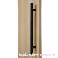 STRONGAR Modern & Contemporary Round Bar/Ladder/H-shape Style 914mm/36 Inches Push-pull Stainless-steel Door Handle - Matte Black Powder Finish - B019EDFIE6