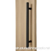 STRONGAR Modern & Contemporary Round Bar/Ladder/H-shape Style 914mm/36 Inches Push-pull Stainless-steel Door Handle - Matte Black Powder Finish - B019EDFIE6