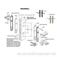 Swing Door Handle Set with Locking Cylinder fits Doors with Multipoint Locks (multipoint lock not included) Durable hardware  door handles - B00OJRKB0E