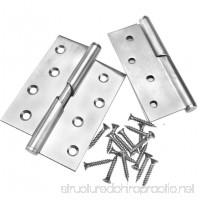 1 Pair of 4 Stainless Steel Rising Butt Left Handed Lift Off Door Hinge - B01MYGER20