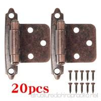 Boshen 20 Pcs Kitchen Cabinet Hardware Hinges Self Closing Face Mount Hinges - Oil Rubbed Bronze - B074WYMJ4K