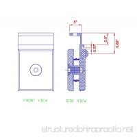 Mini Hinge for 1/4 Glass Shower Doors in Polished Chrome Finish Durable commercial & residential door hardware door handles locks - B01FWNMHNW