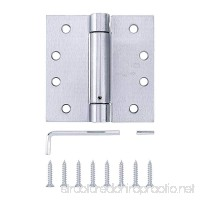 Pack of 3 - Residential Spring Hinge Door Hinge - 4 inch - Satin Chrome Finish - Squared Corners - by Dependable Direct - B079B18R9B