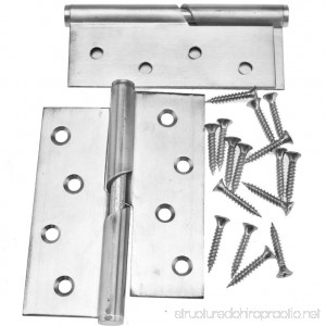 Pair of 4 Stainless Steel Rising Butt Right Handed Lift Off Door Hinge - B01M0WV0P7