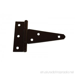 T Hinges 4 (Set of 6) Heavy Duty Steel Shed Door Hinges Storage Shed Door Barn Door Gates - B00AJSME8O