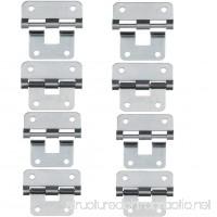 Take-Apart/Lift Off Hinge Door Hinges - Set of 8  Silver - B01MY0G6BM