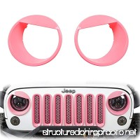 u-Box Jeep Wrangler Pink Angry Bird Front Headlight Cover Bezels for 2007-2018 Jeep Wrangler JK & Unlimited - B0728CCWSG