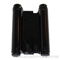 Ultra Hardware 6 Inch Hinge Double Action Spring Black 2.6mm - B0049W48T4