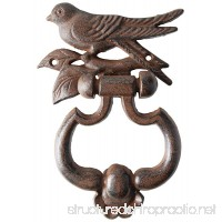 ABC Products - Heavy Cast Iron ~ Bird On a Branch - Hammer Door Knocker (Deep Dark Bronze - Rustic Color Finish - Primitive Design) - B00S5W7SYQ