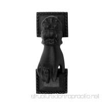 Black Cast Iron Door Knocker Hand Fist Rustproof And Weatherproof Finish 4in High X 1-15/16in Wide - B004FYFCQY