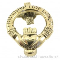 Brass Claddagh Door Knocker Friendship Love Loyalty - B011SLGQ34