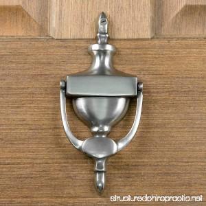 Casa Hardware Brass Vintage Door Knocker - Antique Pewter - B07BZYVBGT