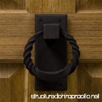Casa Hardware Iron Twisted Ring Door Knocker in Black Finish - B071HRK92H