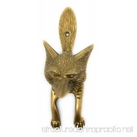 Madison Bay Fox Head Door Knocker Textured Brass  6 Inches Tall - B0722NJS5S